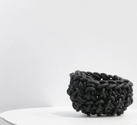 The Minimalist - Neo Crocheted Rubber bowl / Black