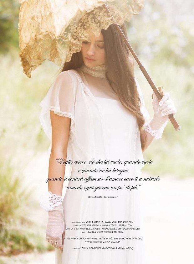 Just Married Magazine Vestido de Teresa Helbig http://vimeo.com/teresahelbig/bridal-novias-barcelona-spain