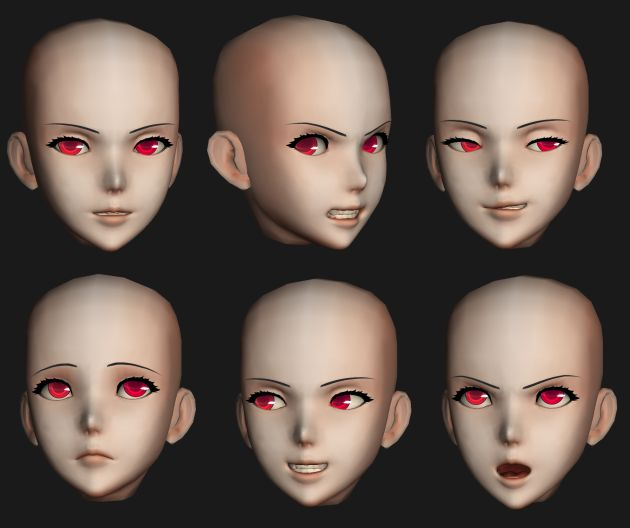 anime head