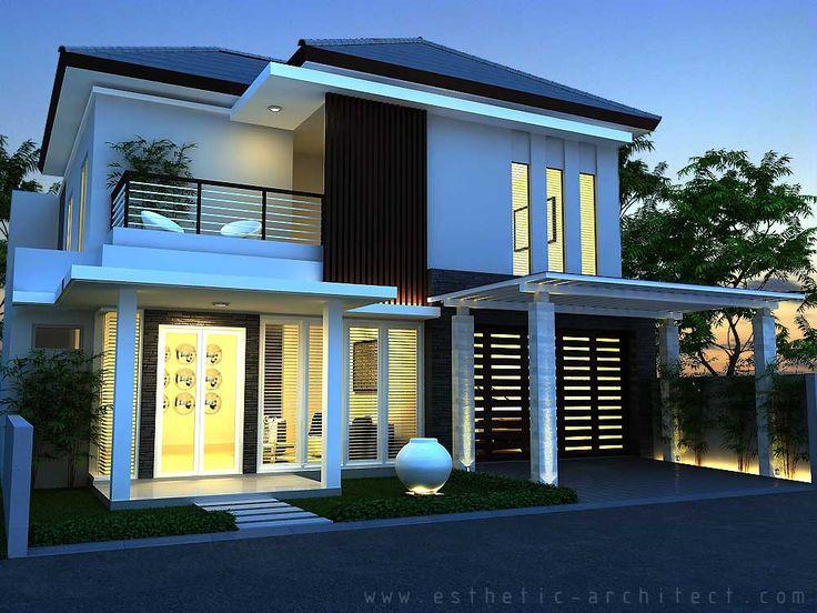 Gambar rumah minimalis modern 2 lantai hook desain for Design interior modern minimalis