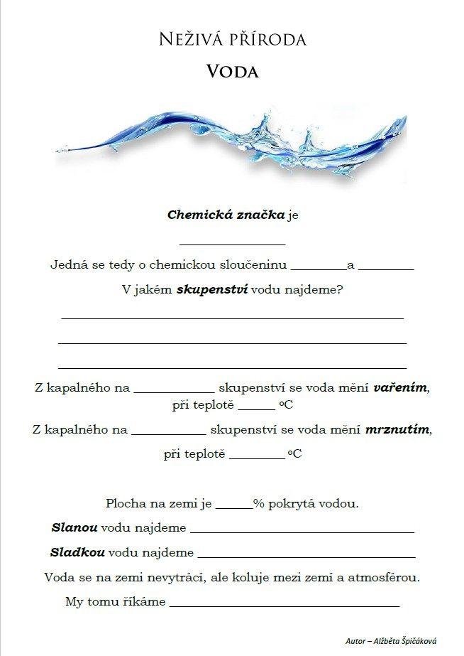 Neživá příroda - Voda