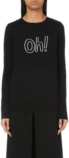 Bella Freud merino jumper as worn by Sandi Toksvig on QI 11.11.16