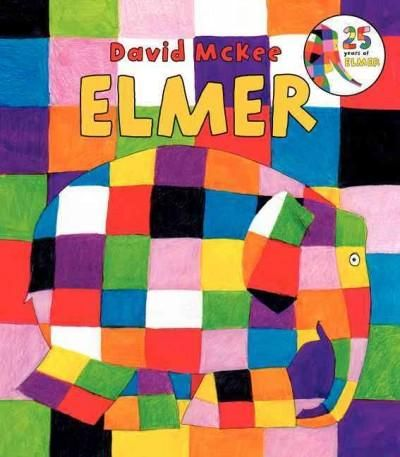 Everyone's favorite patchwork elephant, Elmer, is back in this brand-new 25th anniversary board book edition of David McKee's classic tale, Elmer . Elmer the elephant is bright-colored patchwork all o