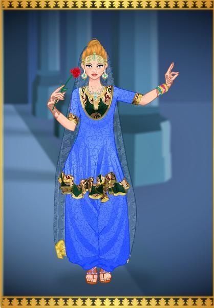 Princesa Athena en traje Indu