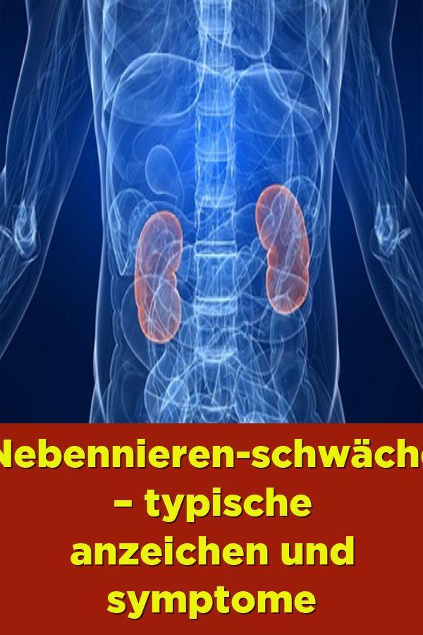 Nebennieren schwäche – Typische Anzeichen und Symptome