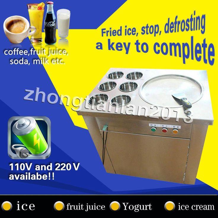 20% Off, Thailand Fried Ice Cream Machine,Ice Cream Roll Making Machine,In Stock