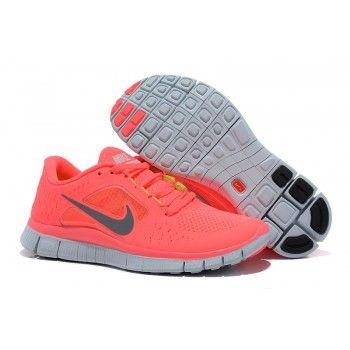 Розовые/коралловые женские кроссовки для бега Nike free run 3 v5 Coral