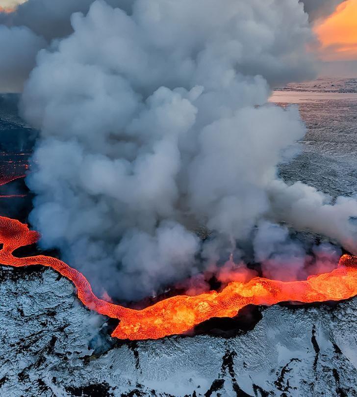 The Holuhraun volcano, Iceland.