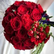 Red Berry Bridal Bouquet - Red Berry Bridal Bouquet > View Full-Size Image... | Red, Berry, Aud, Purchased, Bouquet | Bunchesdi