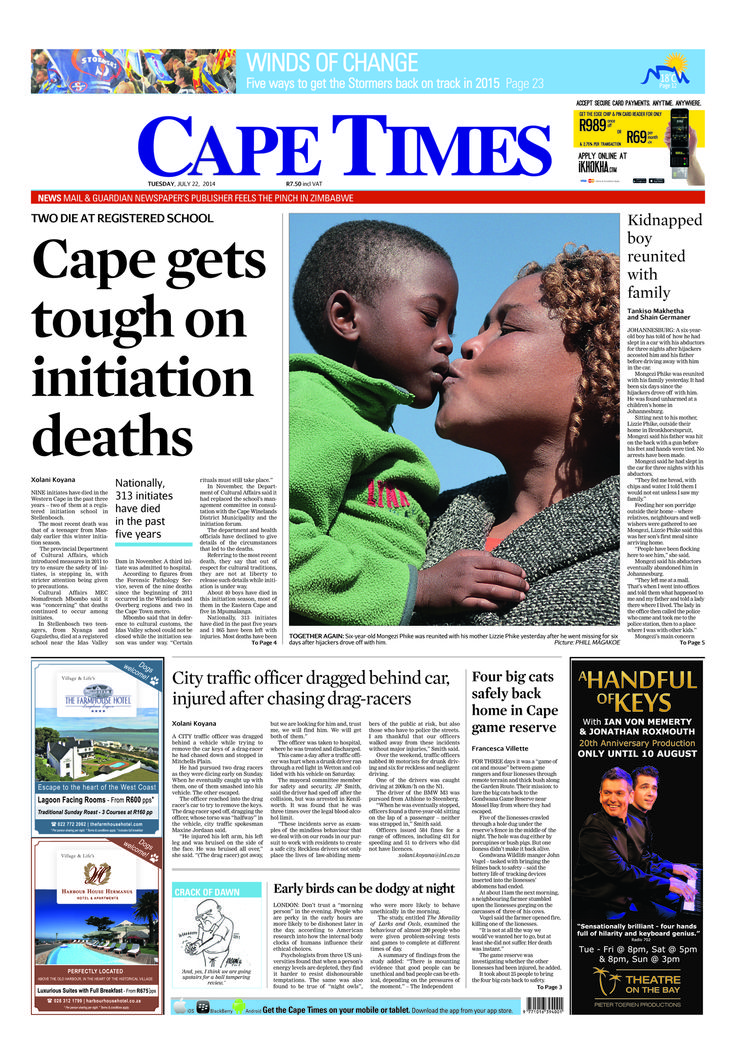 News making headlines: Cape gets tough on initiation deaths
