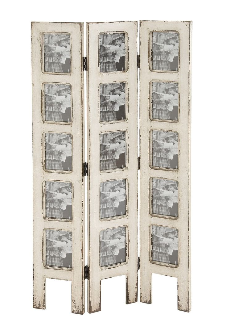 Shabby White Wash Distressed 15 Picture Photo Frame Privacy Screen Room  Divider - 124 Best DIVIDERS & SCREENS Rule! Images On Pinterest Folding