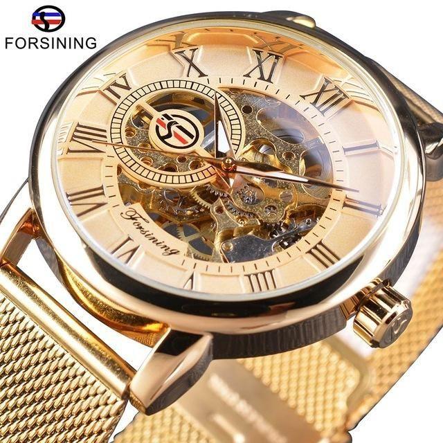 <b>Forsining</b> Transparent Case <b>Luxury</b> Skeleton Watch | Clocks and ...