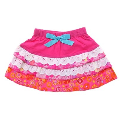 g.Pink/White/Orange Frilly Skirt W Boq-AJ52657-Pink-White-Orange $12.00 on Ozsale.com.au