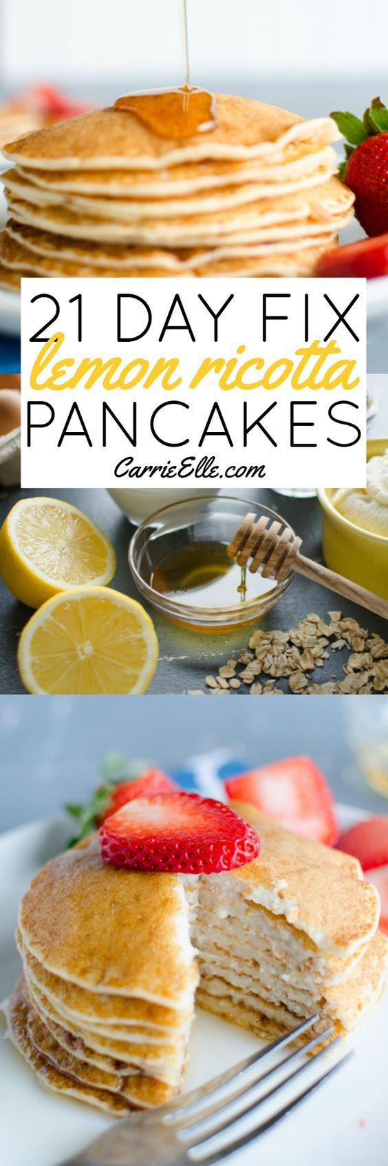These 21 Day Fix lemon ricotta pancakes are good for you packed full of protein and sure to be a favorite breakfast for everyone in the house!