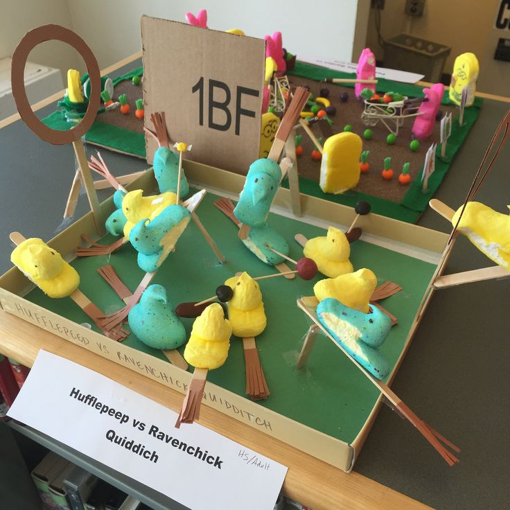 Bedford Library 2016 Peeps Contest | Hufflepeep vs Ravenchick Quiddich | In the Grades 9-12/Adult Category