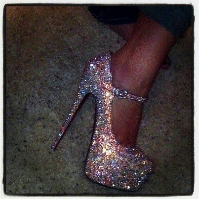 I love sparkly shoes.