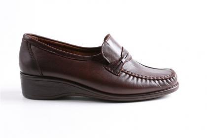 Legend - Kadın Kahve %100 Hakiki Deri Ortopedik Poli Taban Ayakkabı
