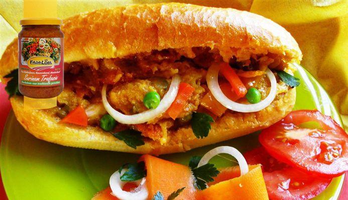Surinaams eten – Broodje Pom (Surinaams ovengerecht met Surinaams Puntje)