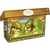 NEW Lindt Gold Bunny & Family Hutch 130g