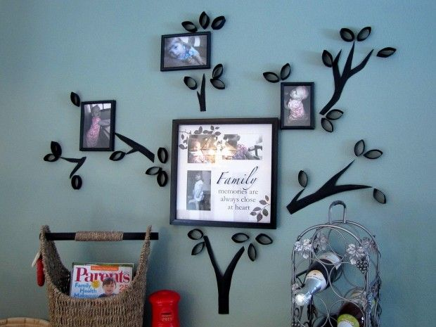 Toilet Paper Roll Tree Wall Art - 20 Cheap and Affordable DIY Home Decor Ideas