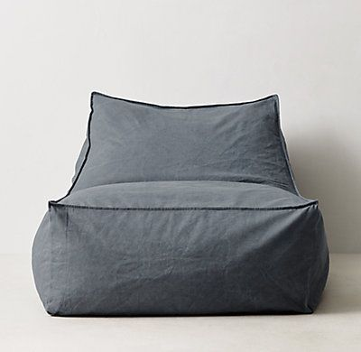Distressed Canvas Bean Bag Lounger