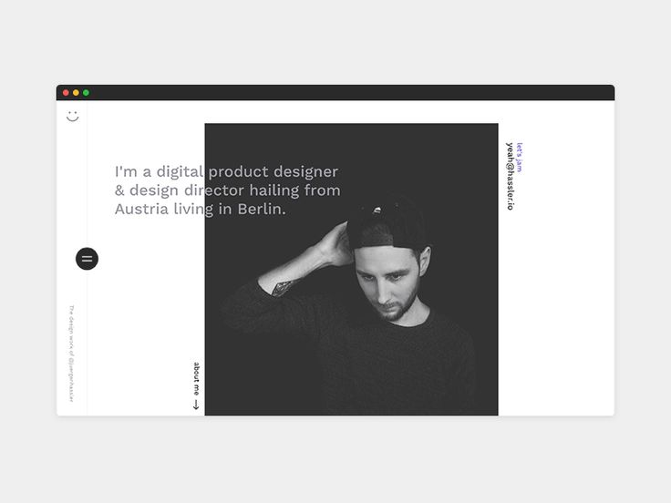 Yeah! I'm insanely excited about the realese of my portfolio. → http://hassler.io
