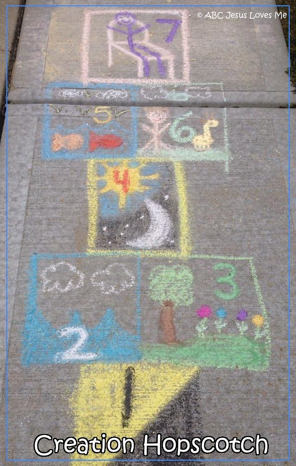 ABC Jesus Loves Me:  Creation Hopscotch and 100's more ideas to teach the days of Creation