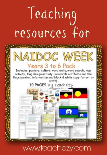NAIDOC Week pack to help commemorate this day. Includes: posters, culture word walls, word search, map activity, flag design activity, Research scaffolds and the flags (poster, information and black & white copy for art or craft).