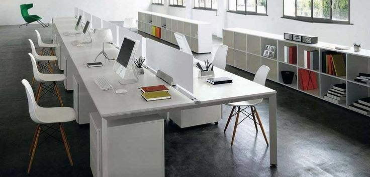 Simple Office Chair And Table with white cupboard