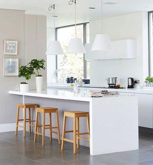 isla central en una cocina moderna