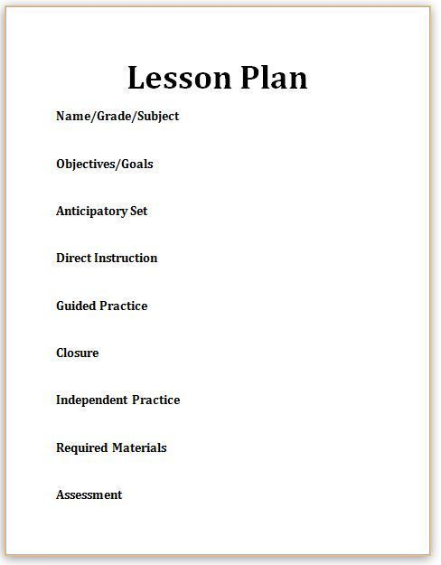 Best 25+ Blank lesson plan template ideas on Pinterest Lesson - madeline hunter lesson plan template