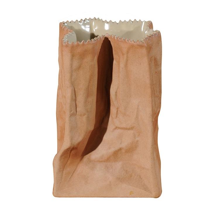 Tapio Wirkkala Brown Paper Bag Vase