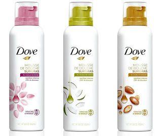 Dove shower & shaving foam rose oil, coconut oil, argan oil mousse de douche spuma de dus ras