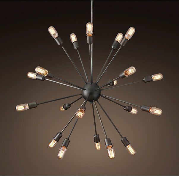 """Sputnik Filament Chandelier 40"""""""