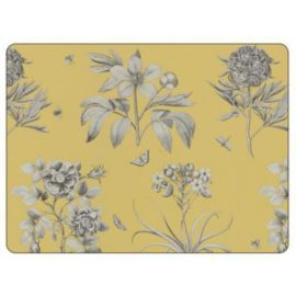 Buy Sanderson for Pimpernel Etchings & Roses Yellow Placemats, Set of 6 from our Placemats & Coasters range - Tesco