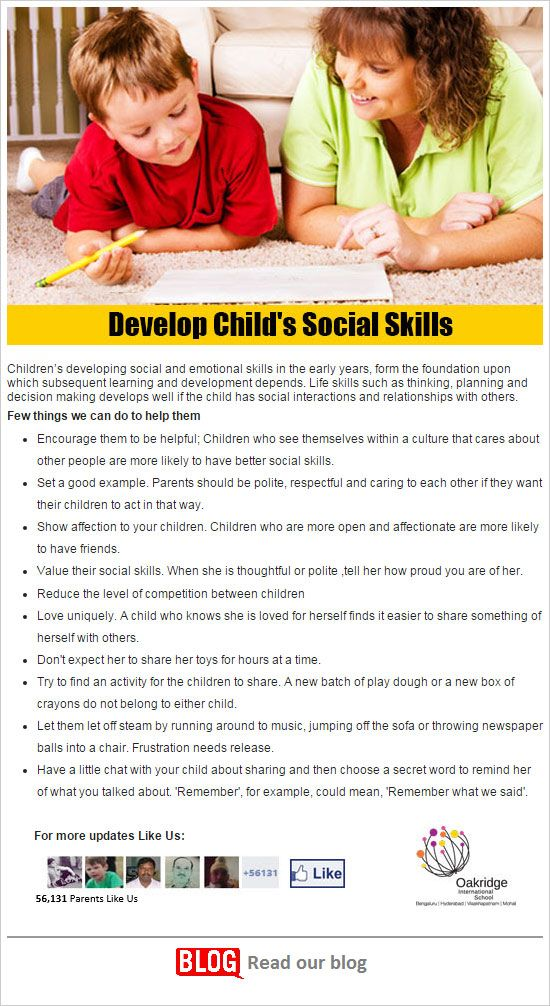 Develop Child's Social Skills