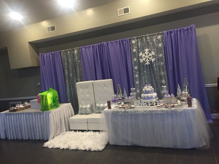 Purple Winter Wonderland Set Up