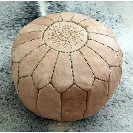 moroccan pouf natural