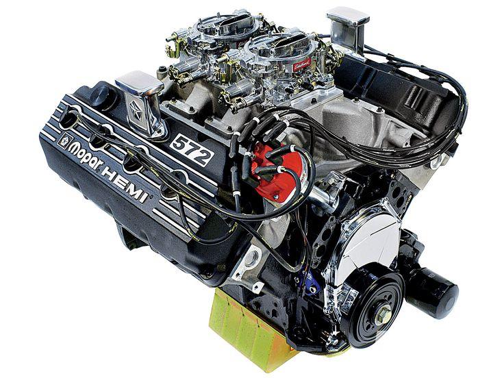 572 Cubic-Inch Mopar Big-Block Hemi V8 Engine http://www.musclecardefinition.com/