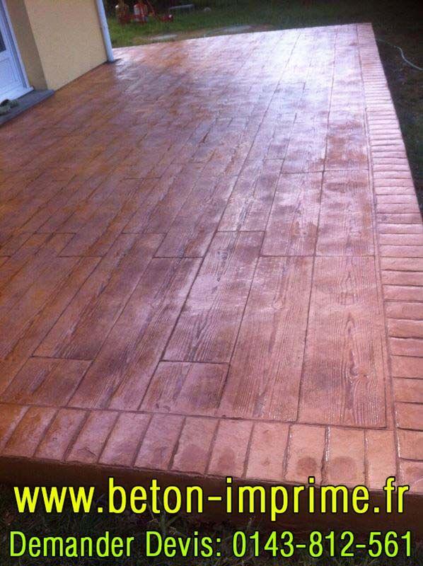 Beton Imprimé Imitation Bois #beton #imprime #bois
