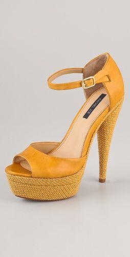 love: Sandals Thestylecurecom, Fabulous Shoes, Rachel Zoe, Yellow Shoes, Platform Shoes, Colors Heels, Zoe Bardot, Bardot Platform, Platform Sandals