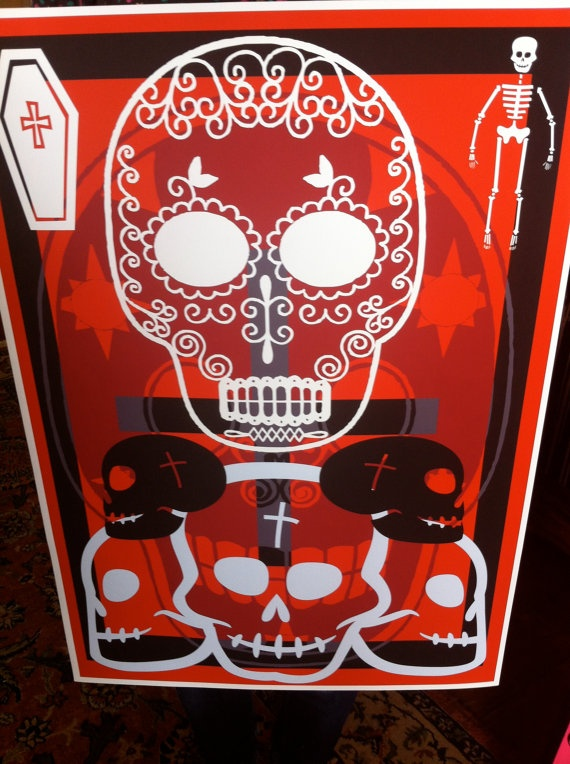 Day of the Dead a2 gicleé art print by JeffreyLouisReed on Etsy, £40.00