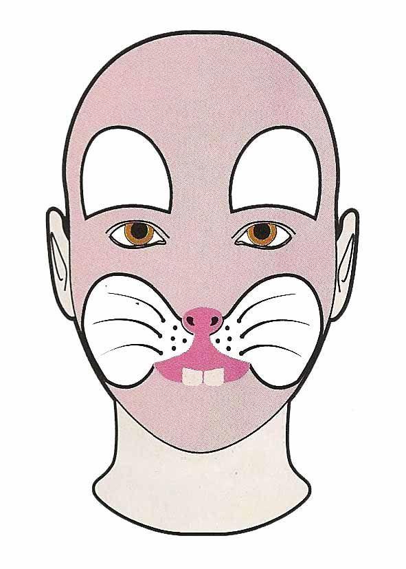 Maquillaje de conejito / Imagen: Fidelina Sánchez Torres