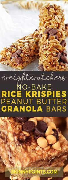 No-Bake Rice Krispies Peanut Butter Granola Bars With 6 Weight Watchers Smart Points