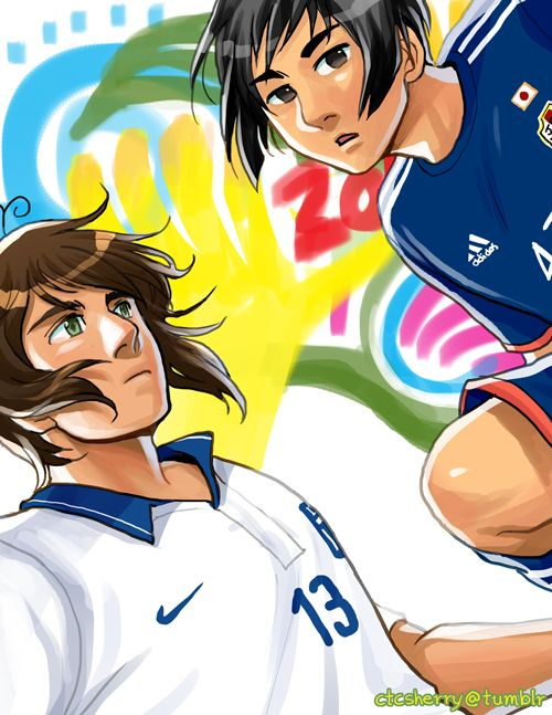 FIFA World Cup 2014: Greece and Japan - Art by ctcsherry.tumblr.com