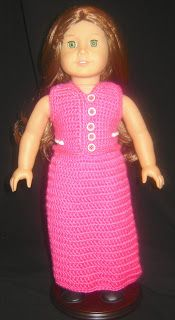 "Bizzy Crochet: Evening Dress w/ Shawl Pattern- 18"" Doll"