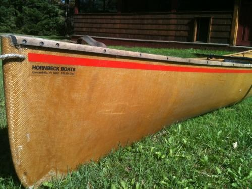 Five or six kevlar canoes...