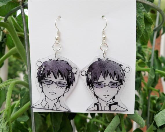 Saiki K Earrings Etsy In 2020 Anime Jewelry Anime Earrings Anime Accessories