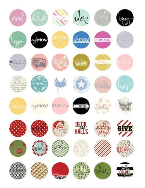 free printable Heidi Swapp circle labels | Lorrie's Story