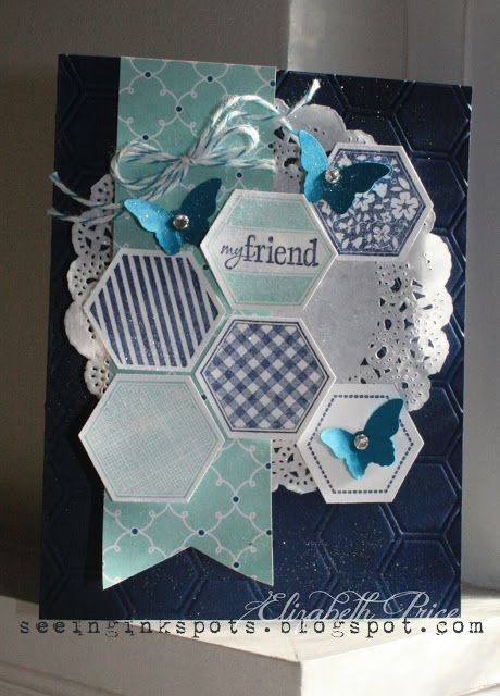 Seeing Ink Spots: Six Sided Stampin' Up!...This is a design for a card but I think it would be nice as a scrapbook page with some pictures inserted into some of those six sides areas.
